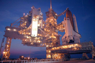 The Shuttle might launch today