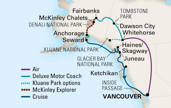 The 2013 Alaska HAL CruiseTour