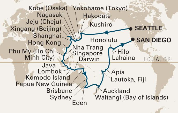 The 2012 Grand Asia & Australia Voyage